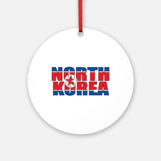 North Korea Round Ornament
