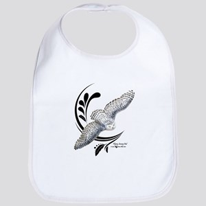 Flying Snowy Owl Bib
