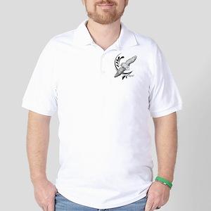 Flying Snowy Owl Golf Shirt