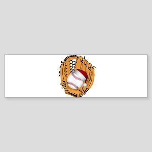 Christmas Baseball Bumper Sticker