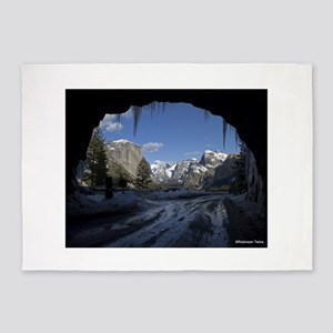 Yosemite's famous Tunnel View from 5'x7'Area Rug