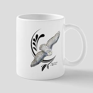Flying Snowy Owl Mugs