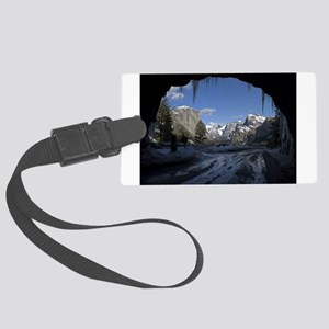 Yosemite's famous Tunnel View fr Large Luggage Tag