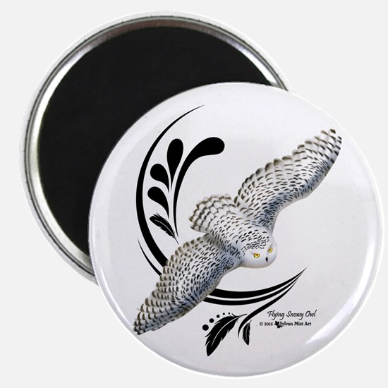 Flying Snowy Owl Magnets
