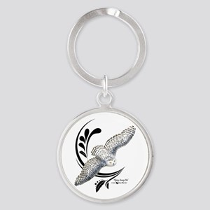 Flying Snowy Owl Keychains
