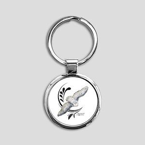 Flying Snowy Owl Keychains
