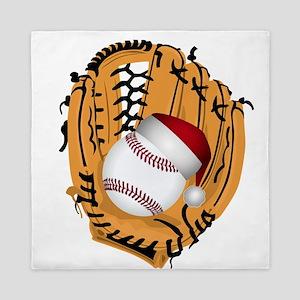 Christmas Baseball Queen Duvet