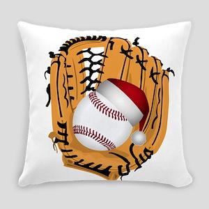 Christmas Baseball Everyday Pillow
