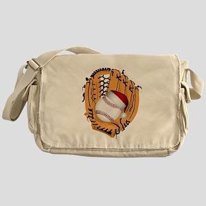 Christmas Baseball Messenger Bag