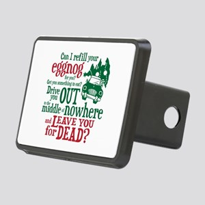 Eggnog Quote Rectangular Hitch Cover