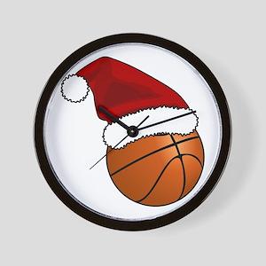 Christmas Basketball Wall Clock