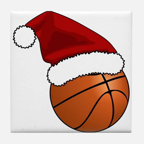 Christmas Basketball Tile Coaster