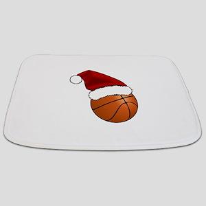 Christmas Basketball Bathmat