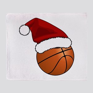 Christmas Basketball Throw Blanket
