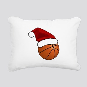 Christmas Basketball Rectangular Canvas Pillow