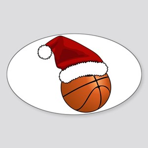 Christmas Basketball Sticker