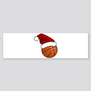 Christmas Basketball Bumper Sticker