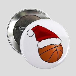 """Christmas Basketball 2.25"""" Button"""