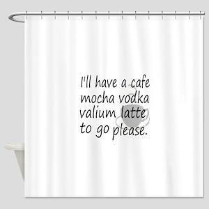 lattehumor Shower Curtain