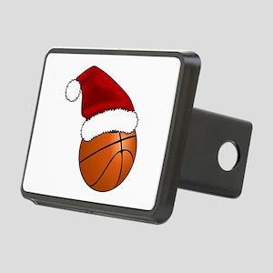 Christmas Basketball Rectangular Hitch Cover