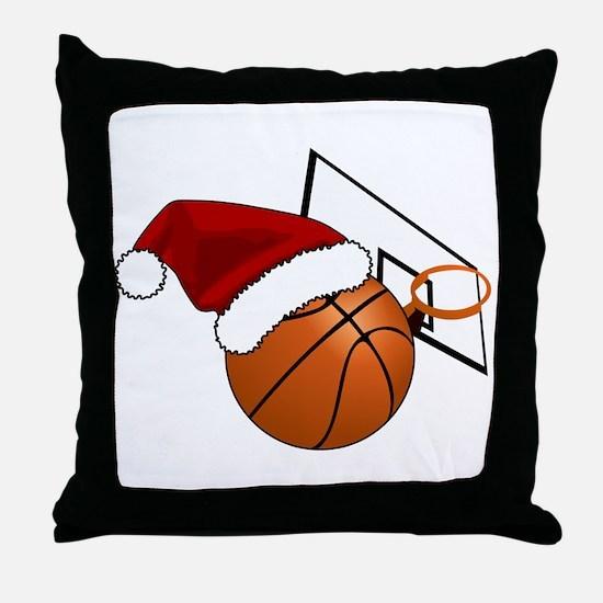 Christmas Basketball Throw Pillow
