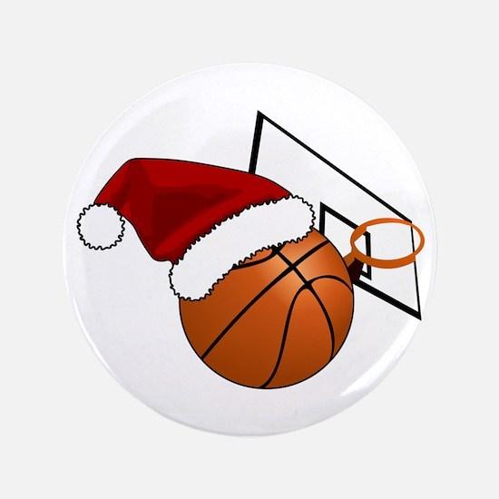 Christmas Basketball Button