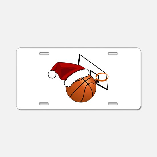Christmas Basketball Aluminum License Plate