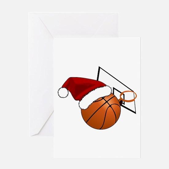 Christmas Basketball Greeting Cards