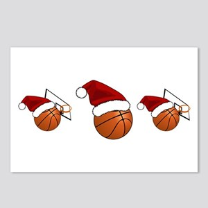 Christmas Basketball Postcards (Package of 8)