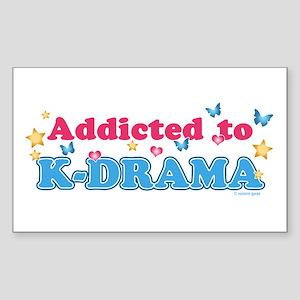 Addicted to K-Drama Sticker (Rectangle 10 pk)