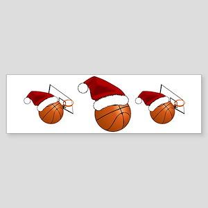 Christmas Basketball Bumper Sticker