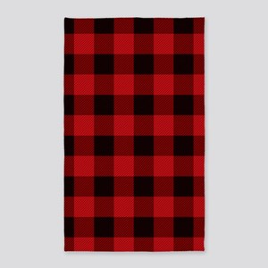 Red Plaid Area Rug