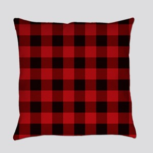 Red Plaid Everyday Pillow
