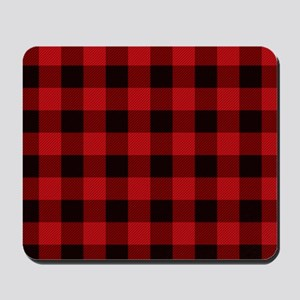 Red Plaid Mousepad