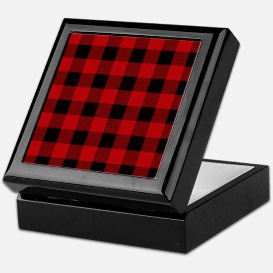 Red Plaid Keepsake Box