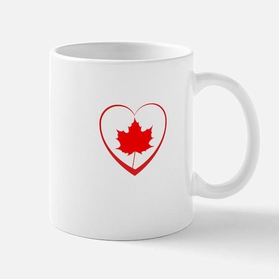 Maple Leaf Heart Mugs