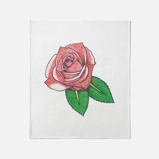 Rose2edit.jpg Throw Blanket