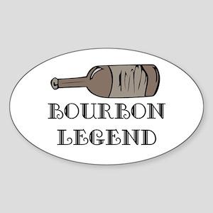 BOURBON LEGEND Oval Sticker
