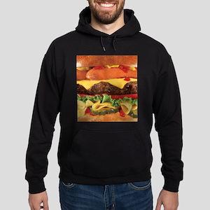 hipster burger Hoodie (dark)