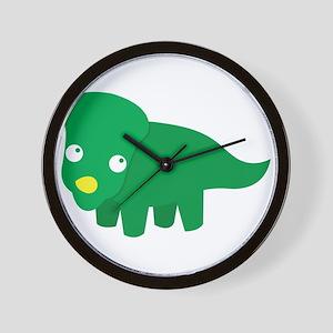 Cute green dinosaur Wall Clock