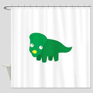 Cute green dinosaur Shower Curtain