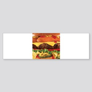 hipster burger Bumper Sticker