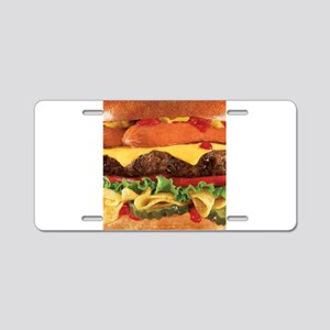 hipster burger Aluminum License Plate