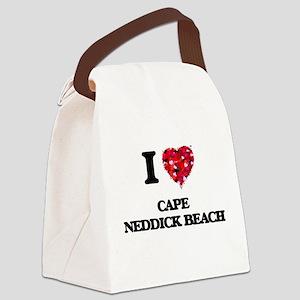 I love Cape Neddick Beach Maine Canvas Lunch Bag