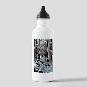 Scary landscape Water Bottle