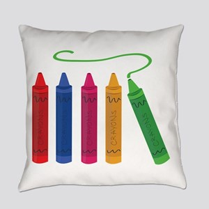 Color Crayons Everyday Pillow