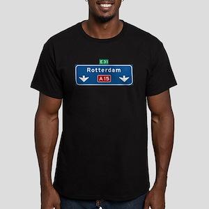 Rotterdam Roadmarker (NL) Men's Fitted T-Shirt (da