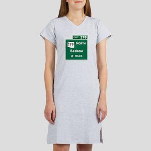 Sedona, AZ Road Sign, USA Women's Nightshirt