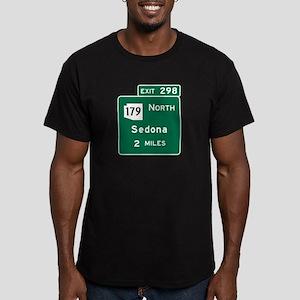 Sedona, AZ Road Sign, USA Men's Fitted T-Shirt (da