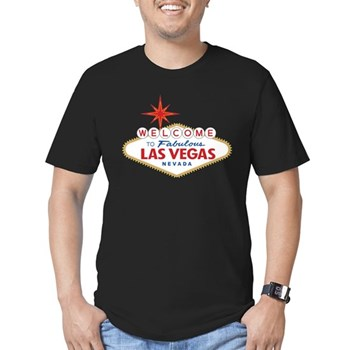 Welcome to Fabulous La Men's Fitted T-Shirt (dark)